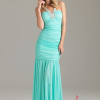 Sheath/Column Halter Floor-length Chiffon Best-Selling Prom Dress with Rhinestone at Msdressy