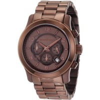 Michael Kors Men&#x27;s MK8204 Runway Chocolate Chronograph Watch - designer shoes, handbags, jewelry, watches, and fashion accessories | endless.com