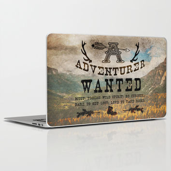 Adventurer Wanted Laptop & iPad Skin by Diogo Verissimo