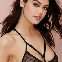 Nasty Gal Check This Out Sheer Hotwire Bra
