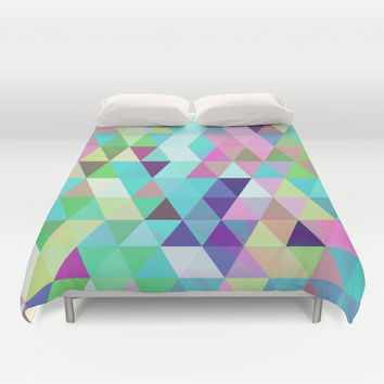 Triangle Mix #4 Duvet Cover by Ornaart
