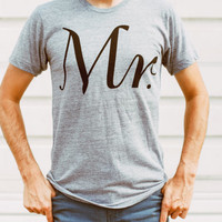 Mr. Tshirt, mens graphic tee, t shirt men, gift for him, groom gift, wedding gift, Valentines Day