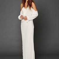 Free People Temptress Cold Shoulder Maxi