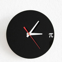 Pi Wall Clock - Geek, Nerd, Math Chic