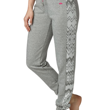 ethnic side print french terry sweat pant