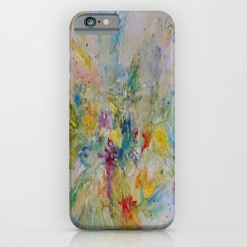 Spring Rain iPhone & iPod Case by Rosie Brown