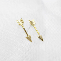 Tiny Piercing Arrow stud earrings - S1278-2
