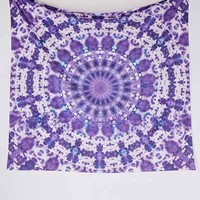 Magical Thinking Kasi Tie-Dye Tapestry- Purple One