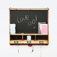 Reclaimed Wood Shelf Hook Wall Chalkboard - Urban Outfitters