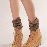 Tassel suede wedges [Rok8400] - &amp;#36;169 : Pixie Market, Fashion-Super-Market