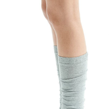 Arya Yoga Spats/ Yoga Leg Warmers/ Yoga Socks in Light Gray Melange/ Yoga Clothes by AryaSense