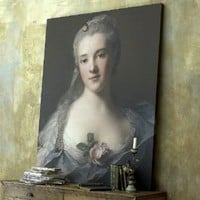Oversized French portrait canvas