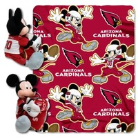 Northwest Arizona Cardinals Nfl Mickey Mouse With Throw Combo