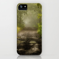 Misty Woodland Lane II iPhone Case by John Dunbar | Society6