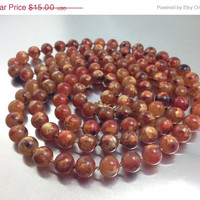 VALENTINES SALE Colorful Vintage Art Amber tone Beads, Plastic painting, Pansy Beads. Gorgeous. Vintage Chinese Beads.