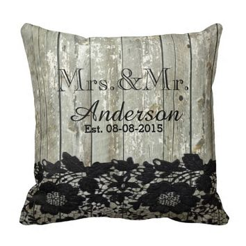 rustic barn wood lace country wedding mr and mrs