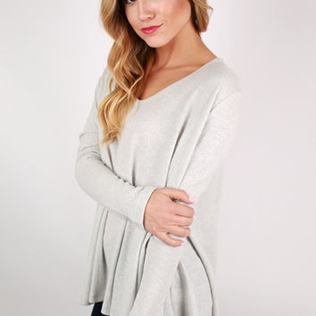 Sunshine All Day Top in Grey