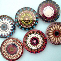 Handmade Magnets Beautiful Mandalas Inch Circle by StuckTogether