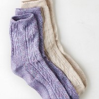 AEO Women's Cable Knit Mid-crew Sock 2-pack (Multi)