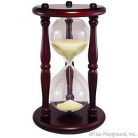Hourglass Sand Timer - 30 Minute Yellow Sand | Sand Timers and Hourglasses