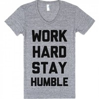 Work Hard-Unisex Athletic Grey T-Shirt