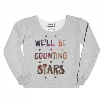 We'll Be Counting Stars (space)-Unisex Heather Grey Hoodie