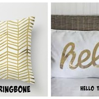 GORGEOUS GOLD FOIL PILLOW COVERS
