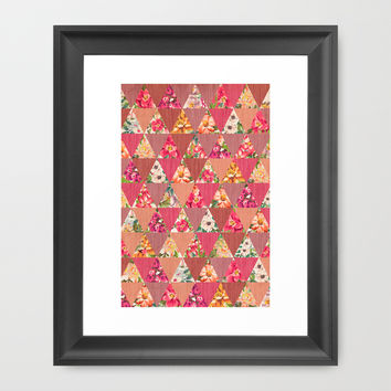 GEOMETRIC MODERN FLOWERS Framed Art Print by Nika