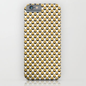 Gold & Black iPhone & iPod Case by Heart Of Hearts Designs