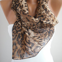 Leopard Chiffon Shawl/Scarf