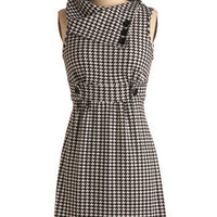 Streetcar Tour Dress in Houndstooth | Mod Retro Vintage Dresses | ModCloth.com