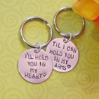 LOVE QUOTE Keychain --  Long Distance Relationship -- Just Because