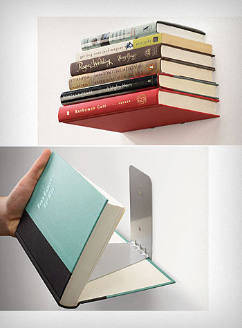 Small Floating Books Wall Shelf | PLASTICLAND