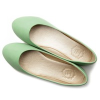 Ollio Womens Ballet Flats Loafers Basic Light Comfort Low Heels Multi Colored Shoes