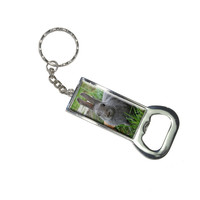 Bunny Rabbit Gray - Easter Bottle Opener Keychain