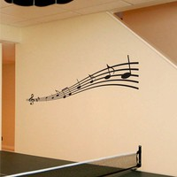 vinyl wall art decals - Music Notes - wall decal