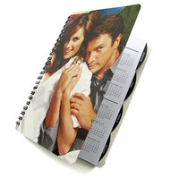 Castle 2012 - 2013 Daily Planner / Calendar UpCycled Agenda Nathan Fillion