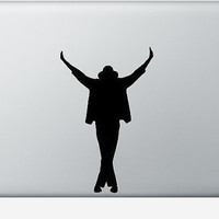 Michael Jackson laptop DECAL- king of pop - macbook iPad computer- Gadget Art / Accessory - Geek Chic perfect gift