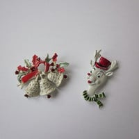 Christmas Brooches - Vintage