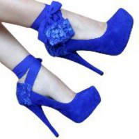 Blue Chiffon Heel Condom