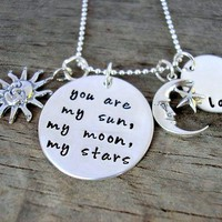 Sun, Moon And Stars Personalized Ne.. on Luulla