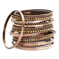 Cara Accessories Multi Media Bangles (Set of 19) | Nordstrom