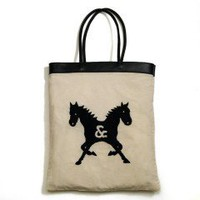 Castor Pollux Hand Embroidered Summer Tote Bag - Castor &amp; Pollux