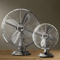 Allaire Desk Fan Brushed Nickel | Fans | Restoration Hardware
