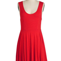 Days of the Chic Dress in Ruby | Mod Retro Vintage Dresses | ModCloth.com