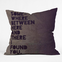 DENY Designs Home Accessories | Leah Flores Here And There Throw Pillow