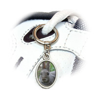 Bunny Rabbit Gray Easter Shoe Charm - No. 2