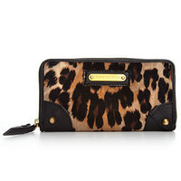Juicy Couture Handbag, Leopard Velour Zip Wallet - Handbags &amp; Accessories - Macy&#x27;s