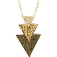 Triple Triangle Necklace - 2020AVE