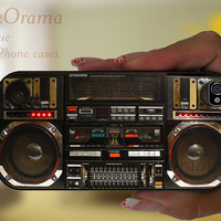 BOOMBOX Ghetto Blaster funny iPhone 4, iPhone 4 case, iPhone 4S case, iPhone cover, iPhone hard case